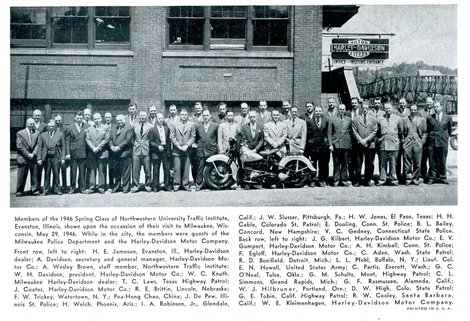 Visita a la fábrica - Knucklehead de 1946