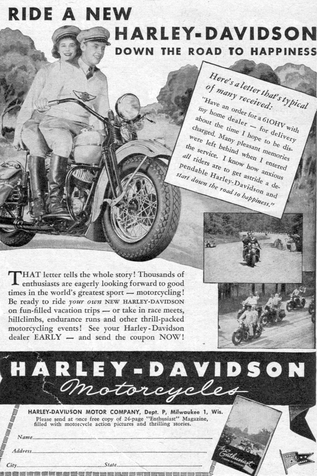 Ride a New Harley-Davidson