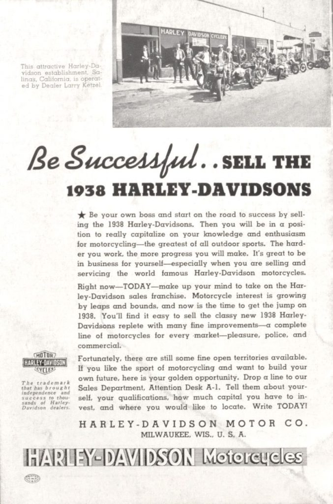 sell the 1938 Harley-Davidson