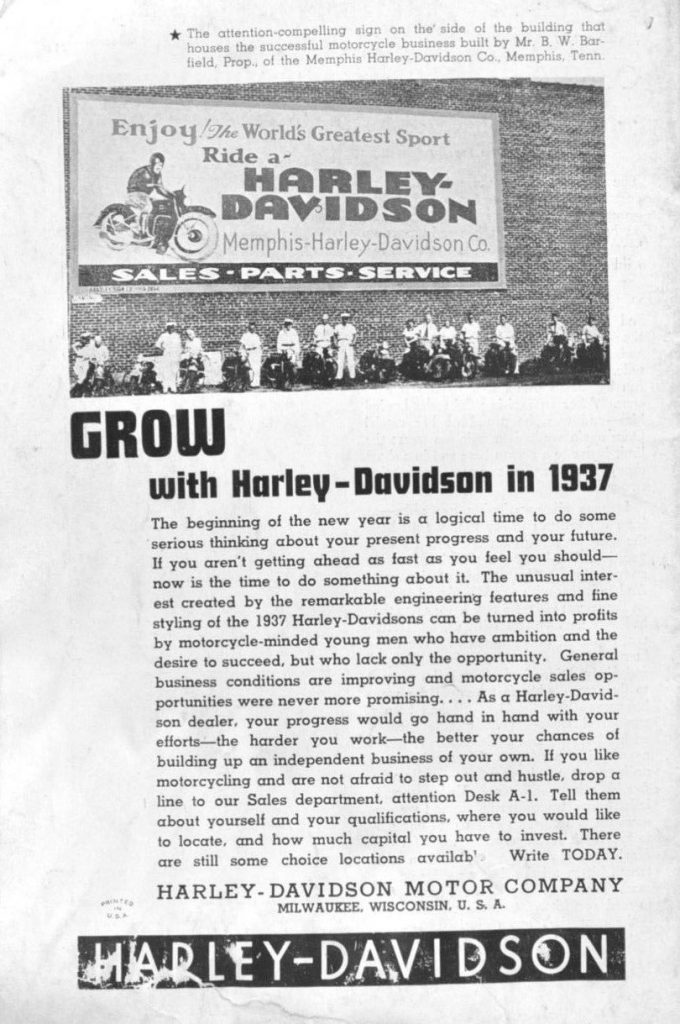 grow with harley-davidson
