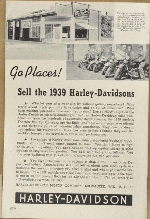 sell the 1939 harley-davidson