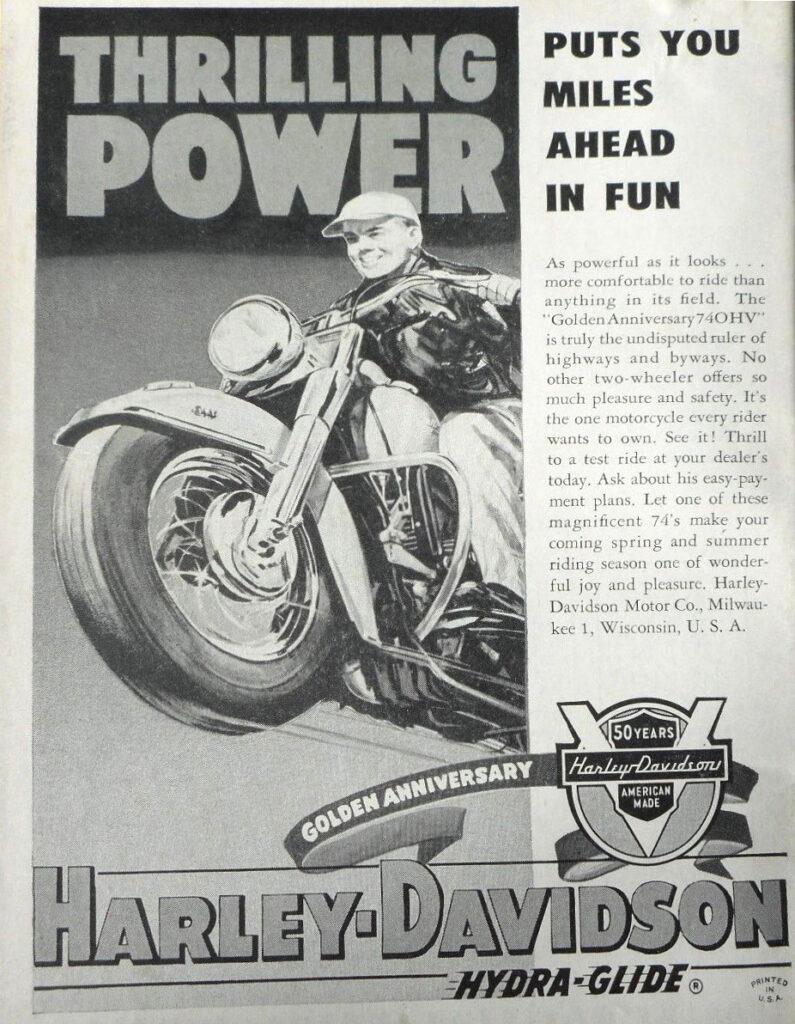 1954 - Harley-Davidson - Thrilling power