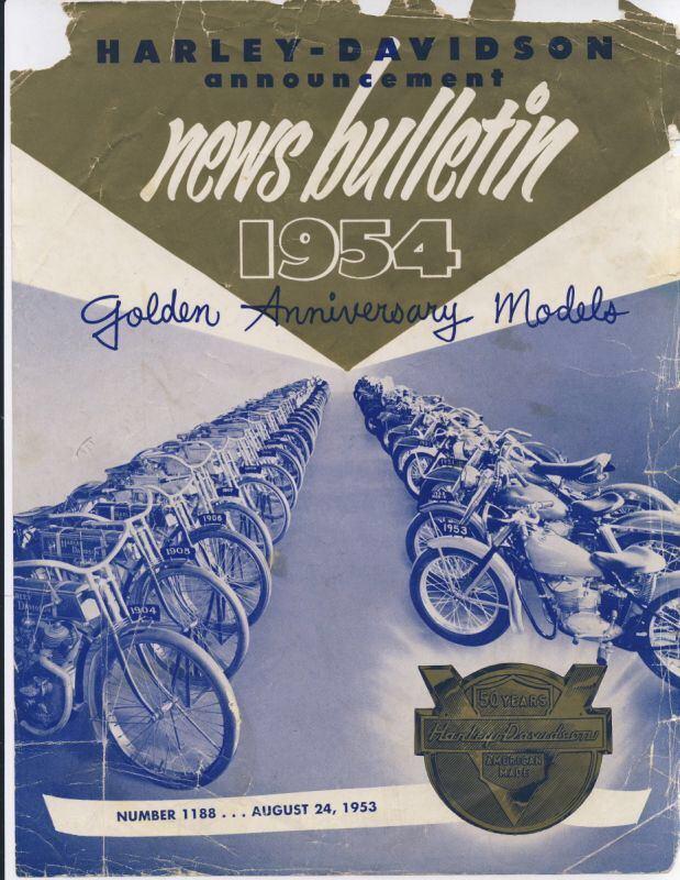 Harley-Davidson 1954-news-bulletin