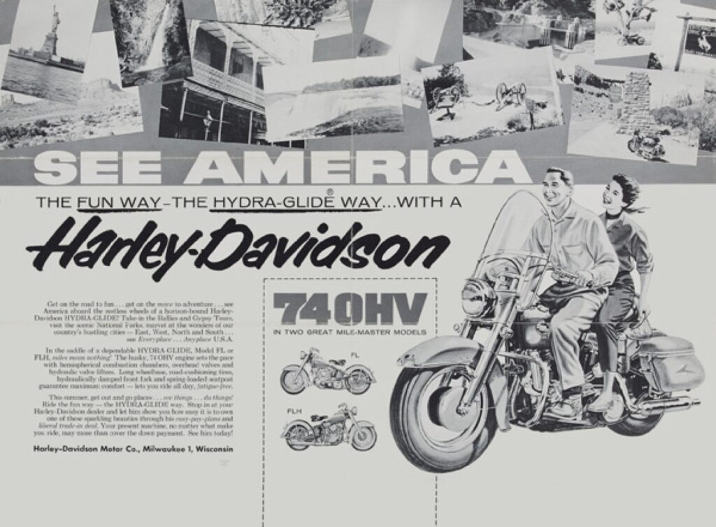 1955 - Harley-Davidson - see america