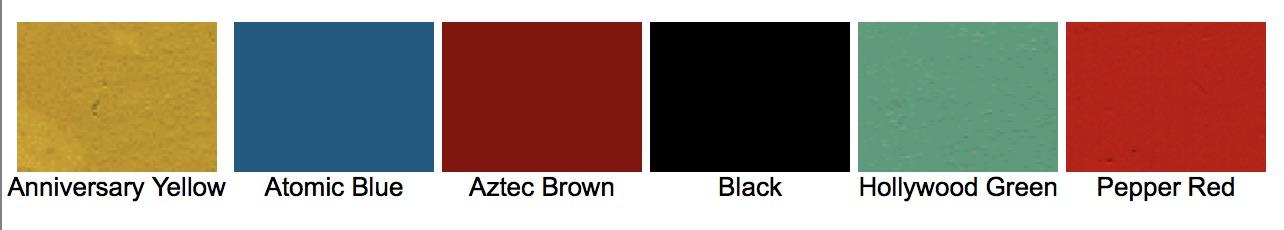 Colores para ST y STU de 1955
