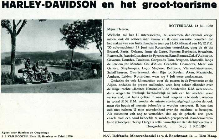 harley-davidson en holanda