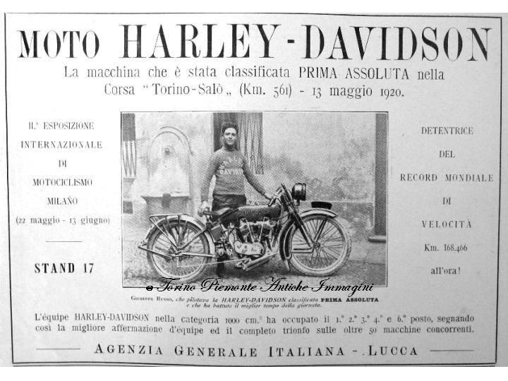 harley-davidson en italia
