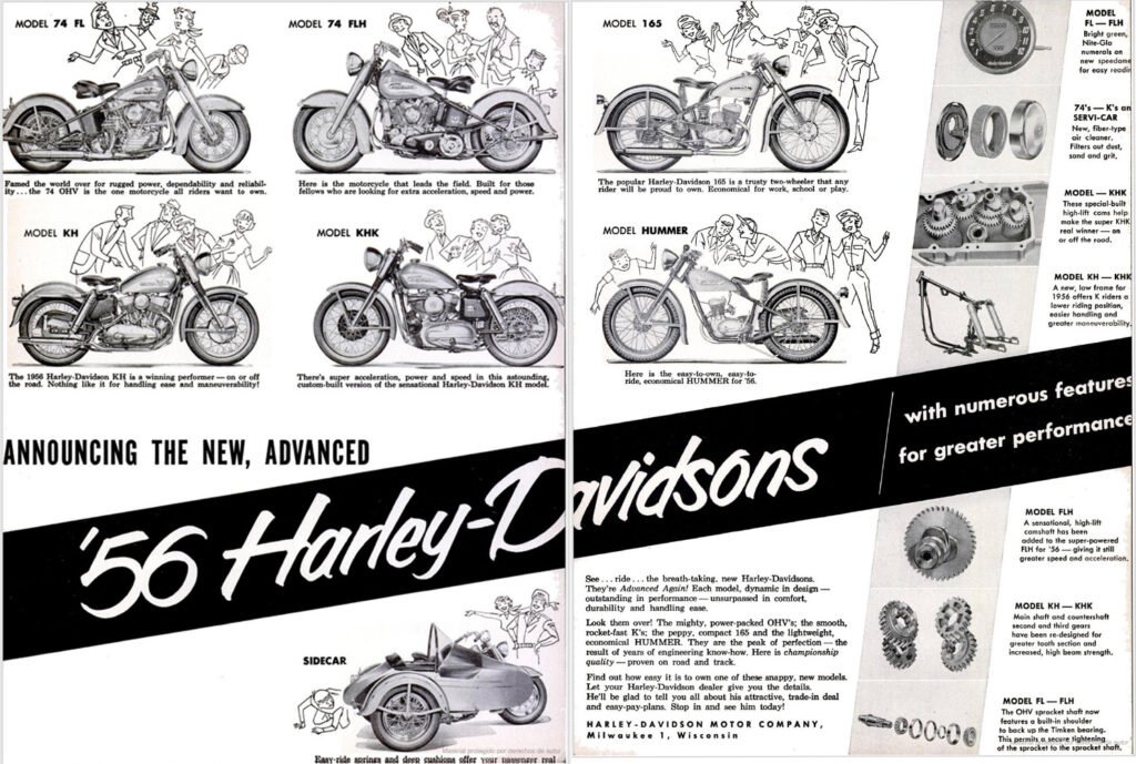 1956 - Harley-Davidson - folleto