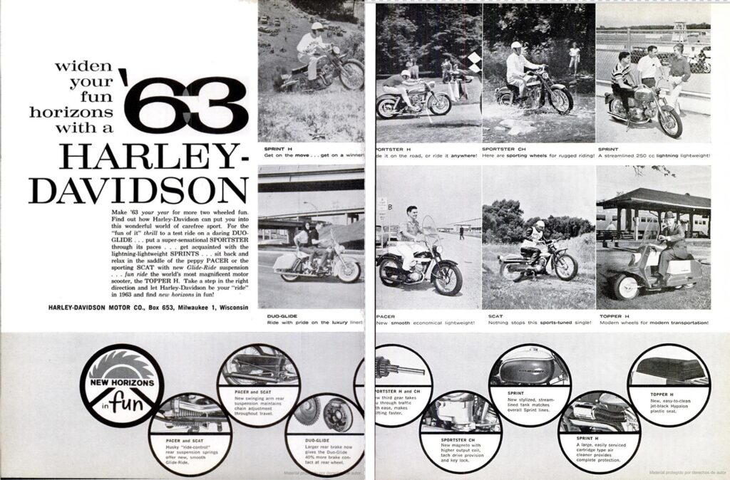 1963 - Harley-Davidson - folletos