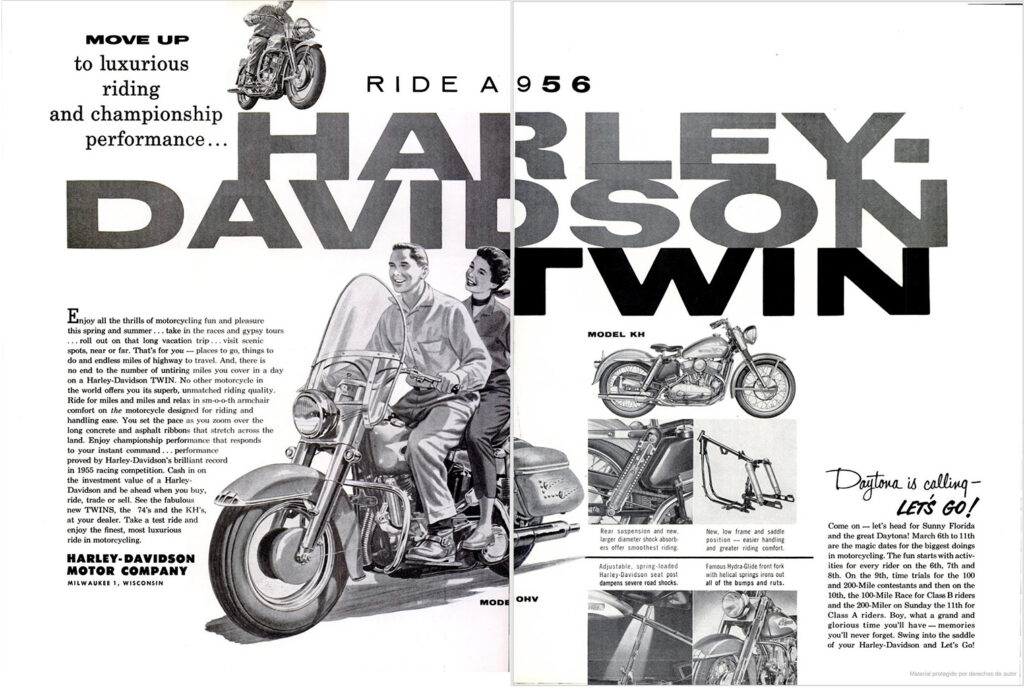 1956 - Harley-Davidson - Ride a 56