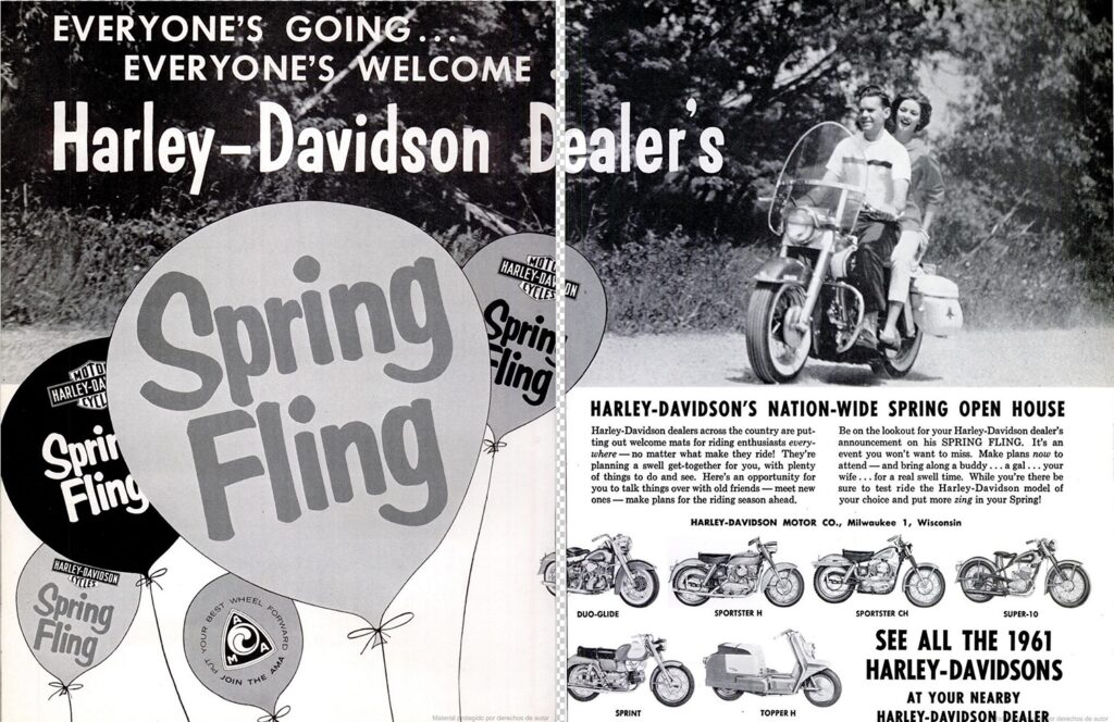 1961 - Harley-Davidson - Folletos