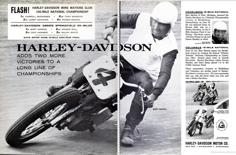 1962 - Harley-Davidson - carreras
