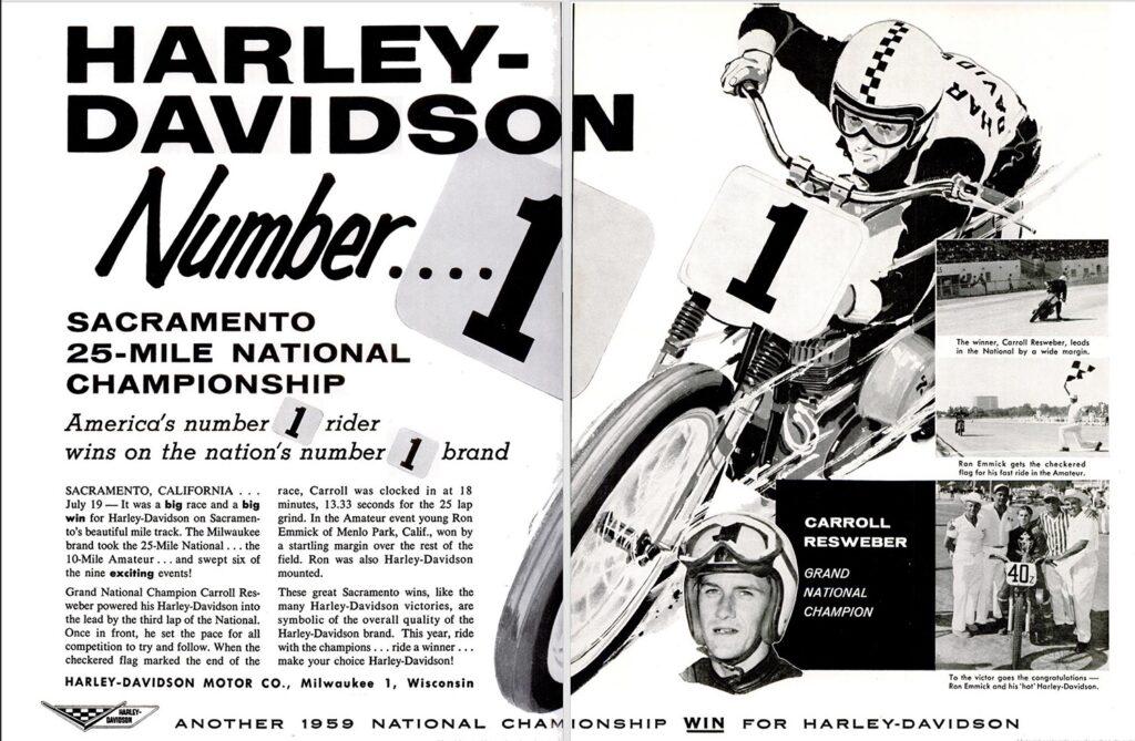 1959 - Harley-Davidson - carreras
