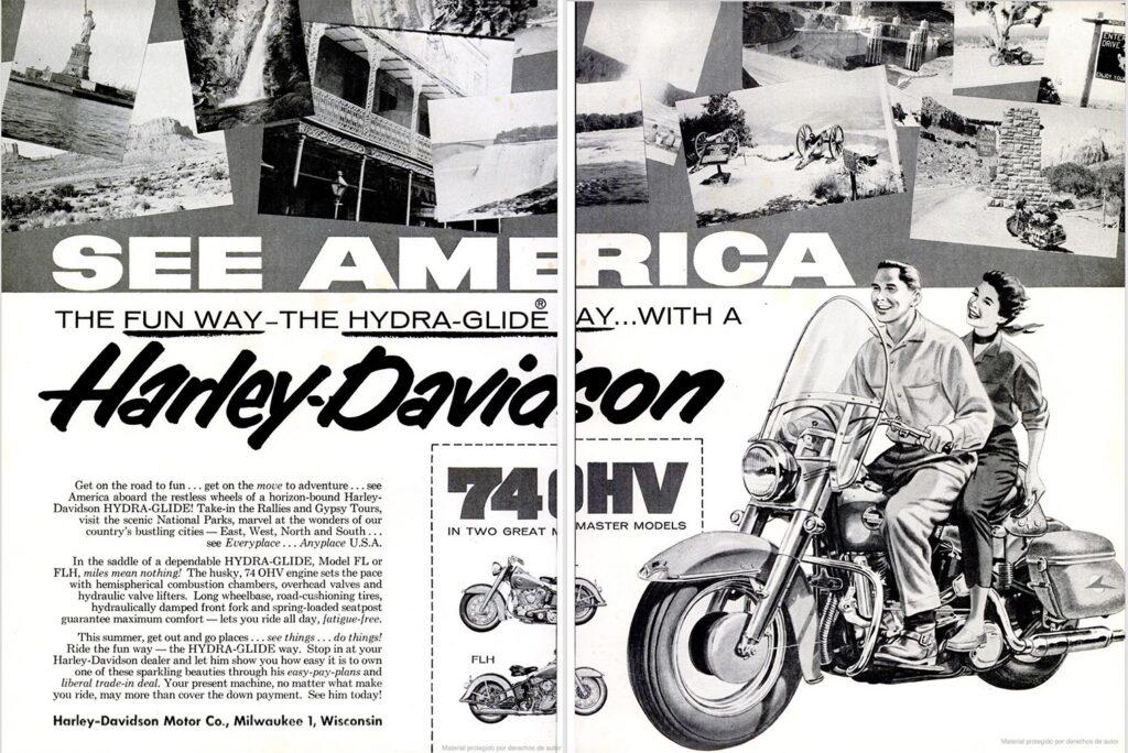 1957 - Harley-Davidson - see america