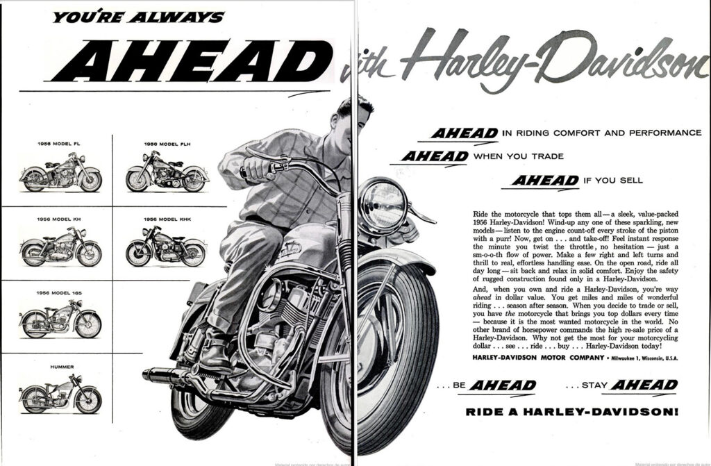 1956 - Harley-Davidson - Ahead