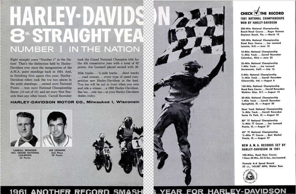 1961 - Harley-Davidson - Carreras