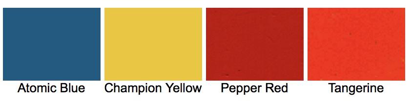 Colores de modelo 56-ST de 165 cc