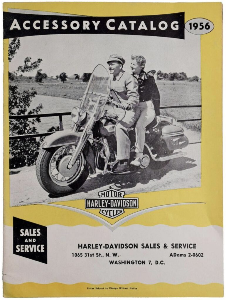 1956 - Harley-Davidson - Accessory catalog
