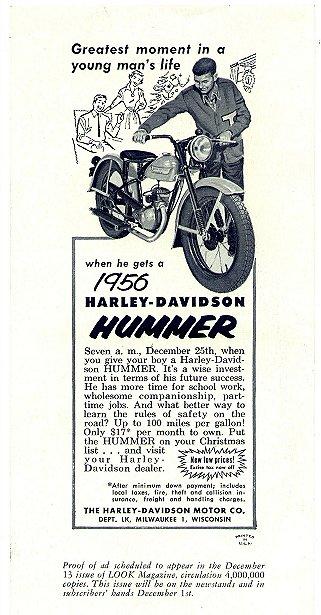 1956 - Harley-Davidson - Hummer 165
