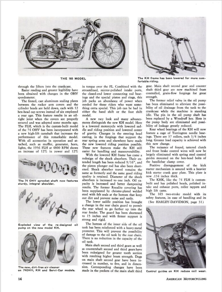 1956 - Harley-Davidson - New line for 56