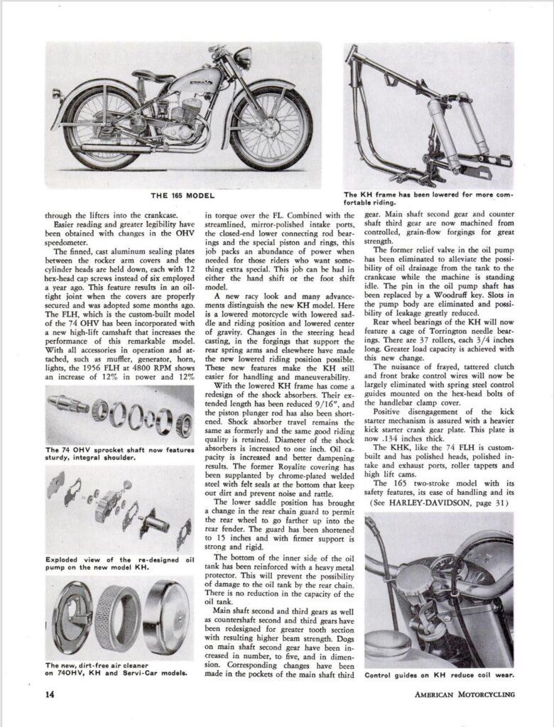 1956 - Harley-Davidson - New line for 56