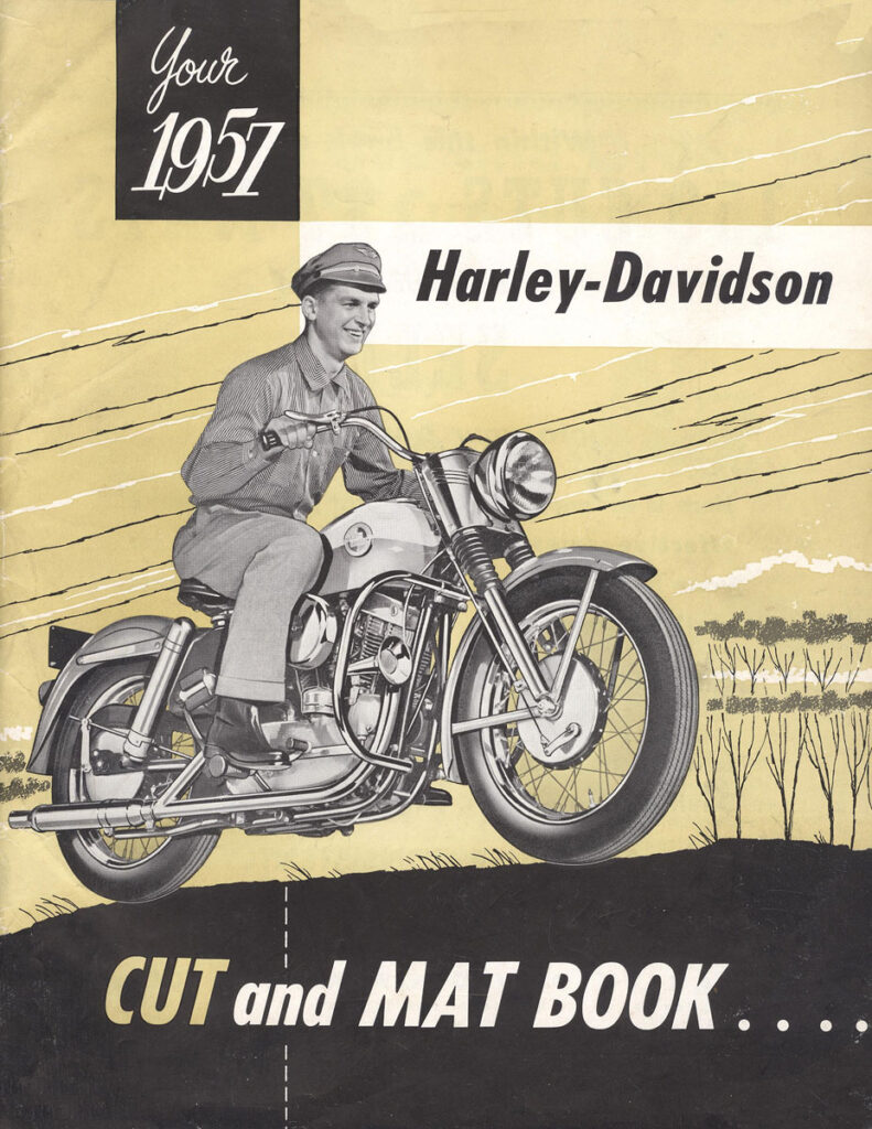 1957 - Harley-Davidson - cut and mat