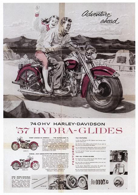1957 - Harley-Davidson - Hydra-Glides