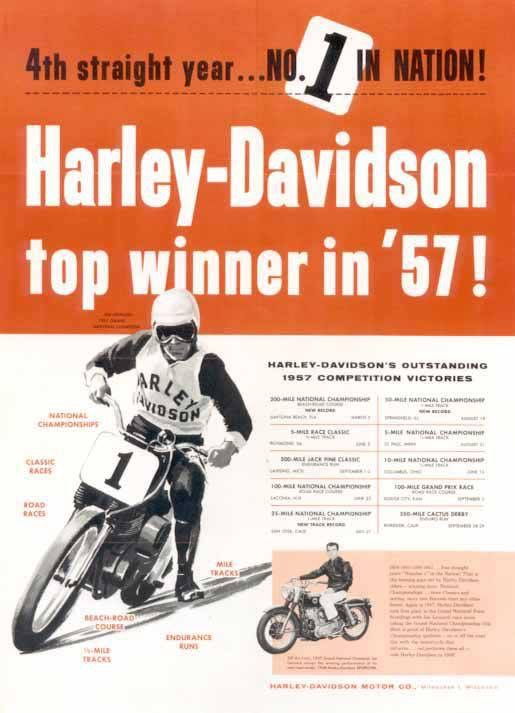 1957 - Harley-Davidson - Top winner