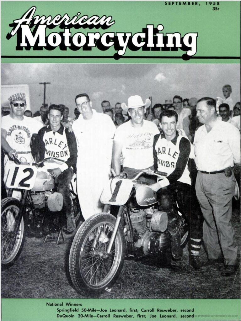 1958 - Harley-Davidson - Carreras