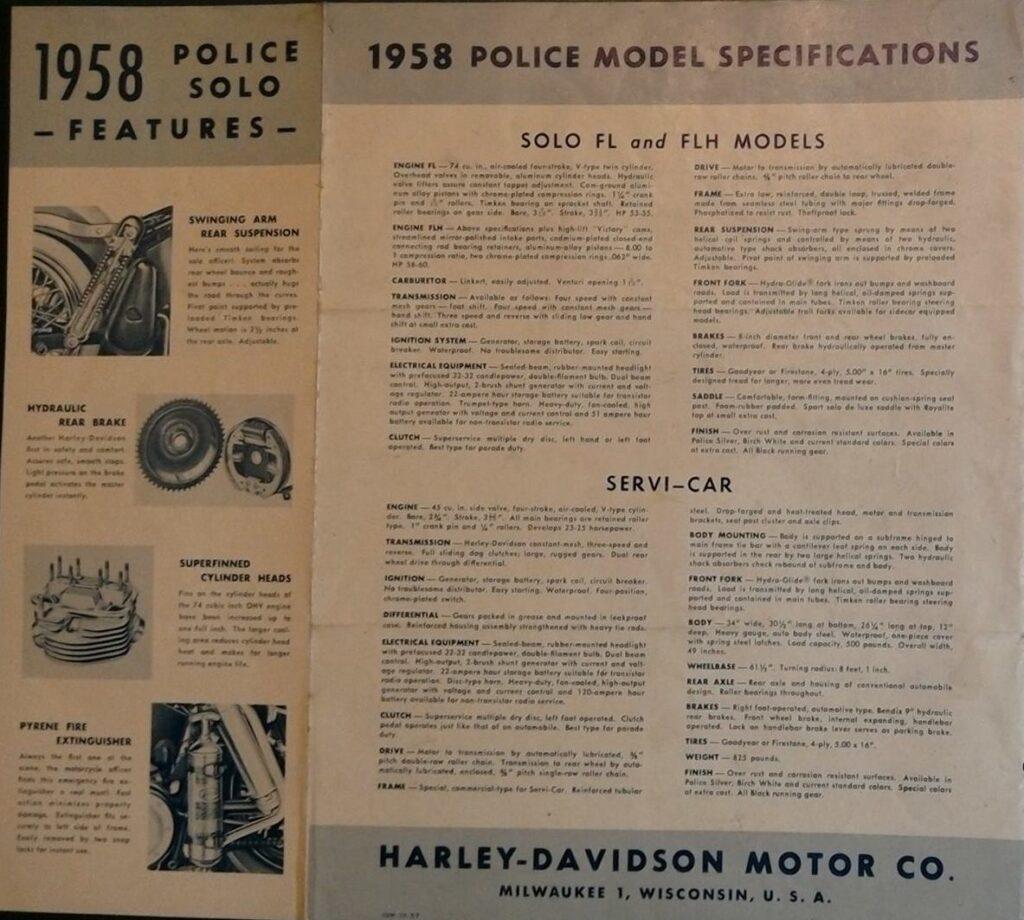 1958 - Harley-Davidson - Policia