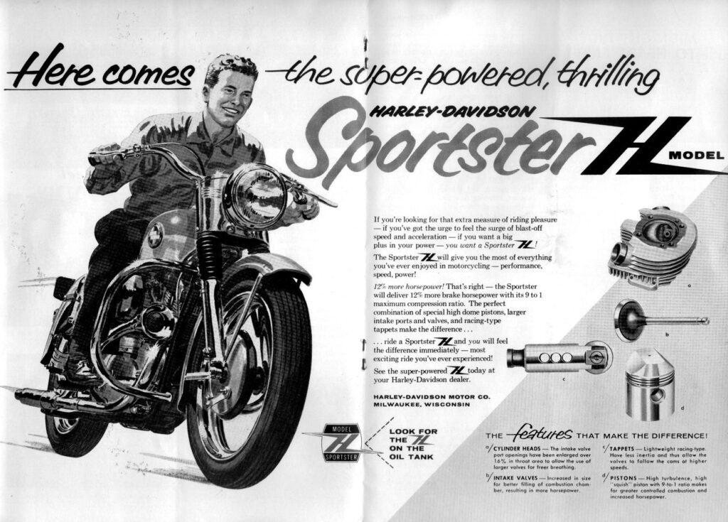 1958 - Harley-Davidson - folleto