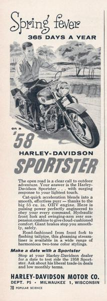 1958 - Harley-Davidson - folleto