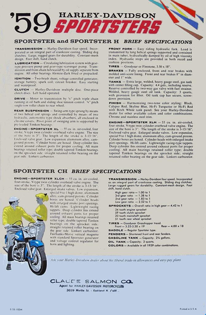 1959 - Harley-Davidson - folletos