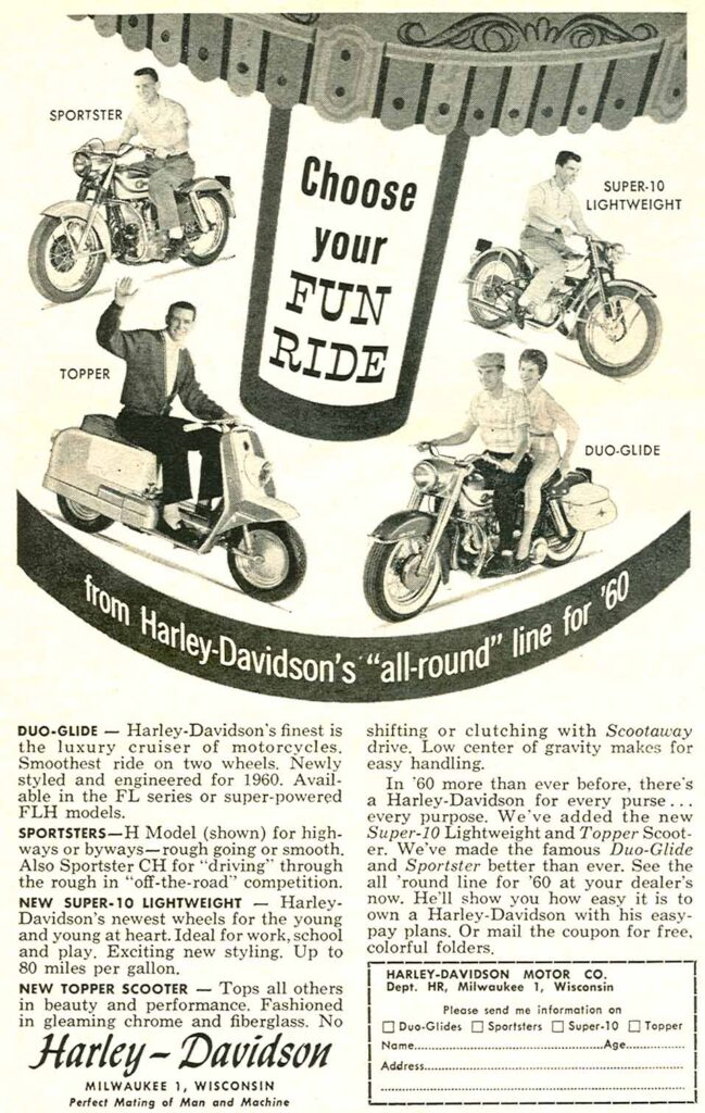 1960 - Harley-Davidson - folleto