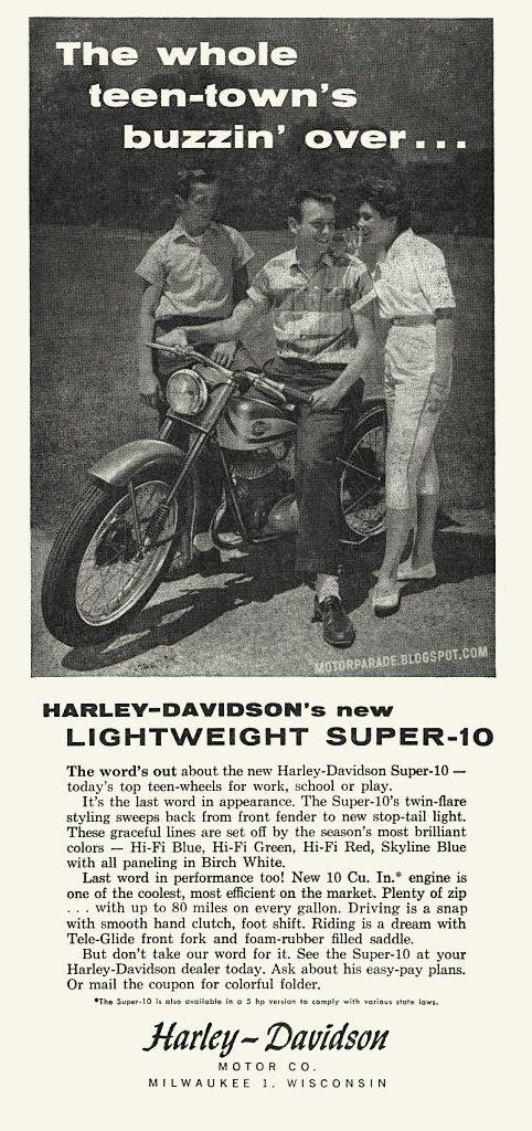 1960 - Harley-Davidson - folleto