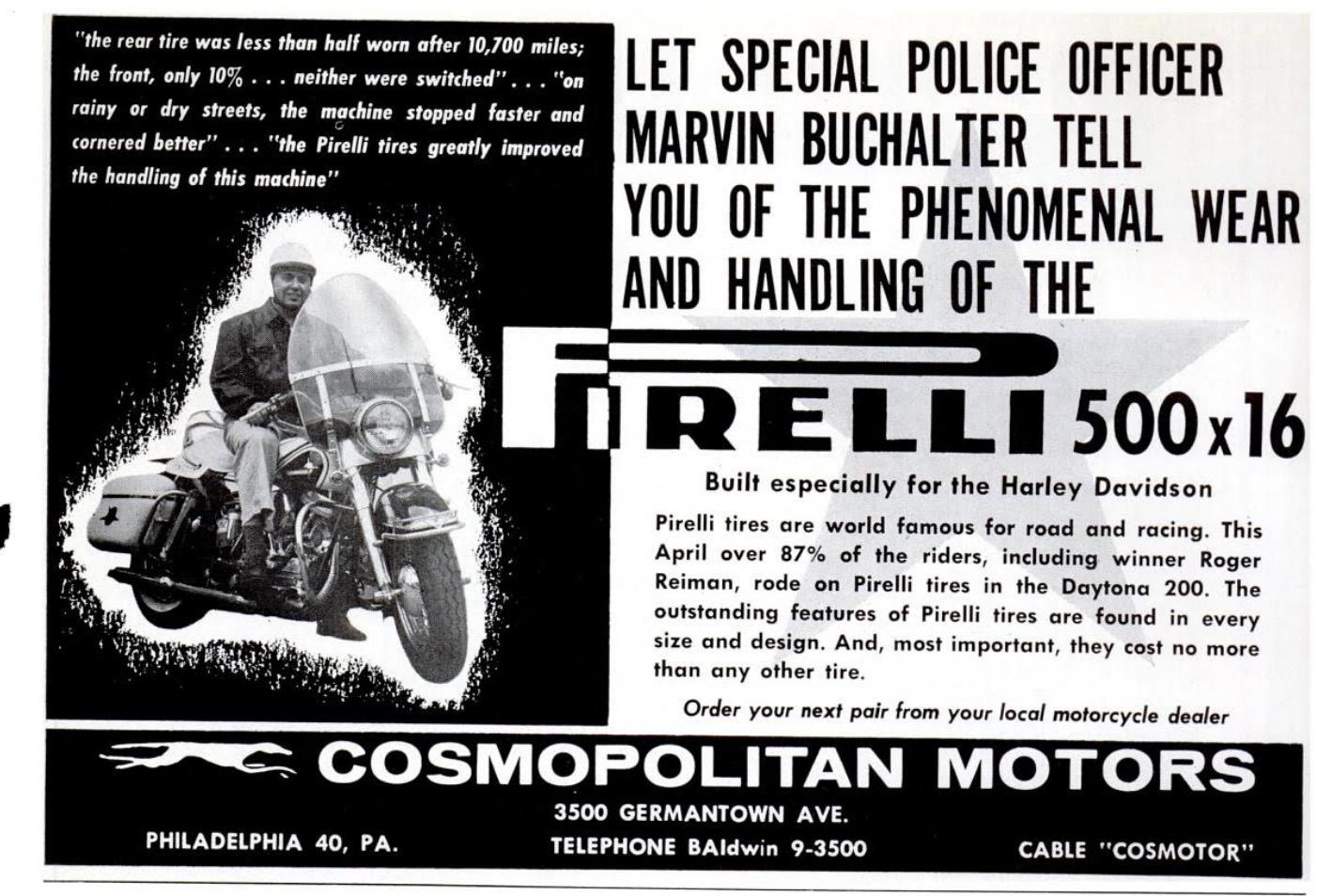 Rueda Pirelli especial para policía