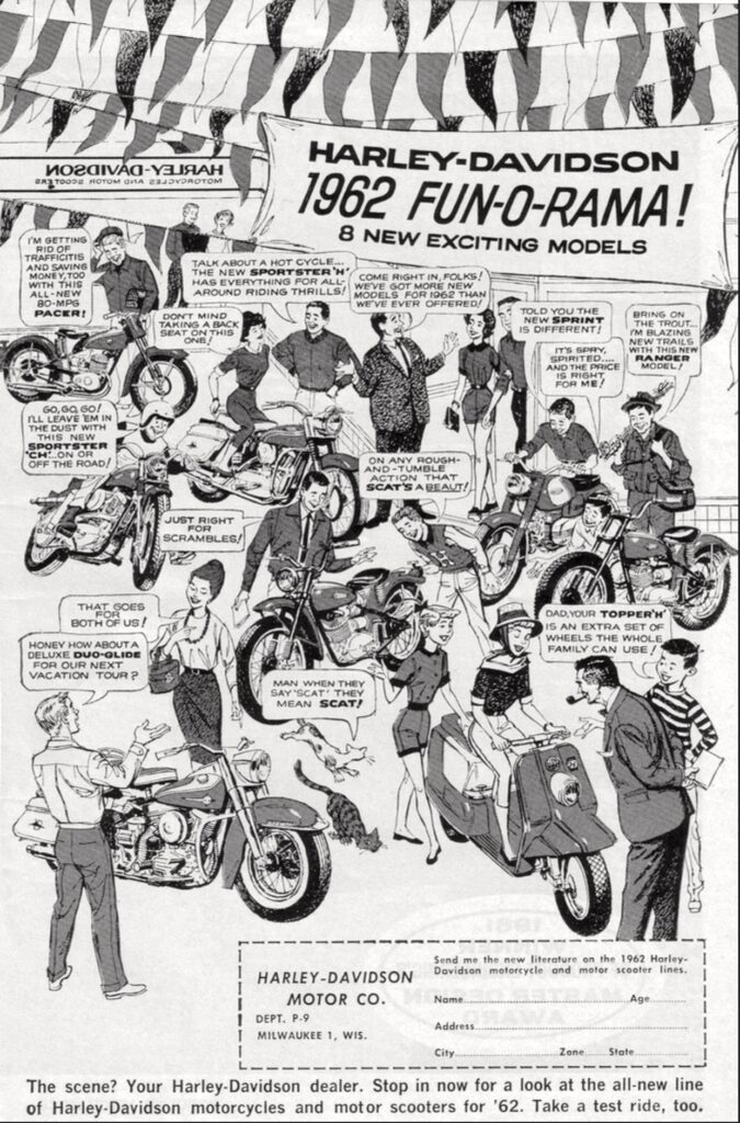 1962 - Harley-Davidson - folletos