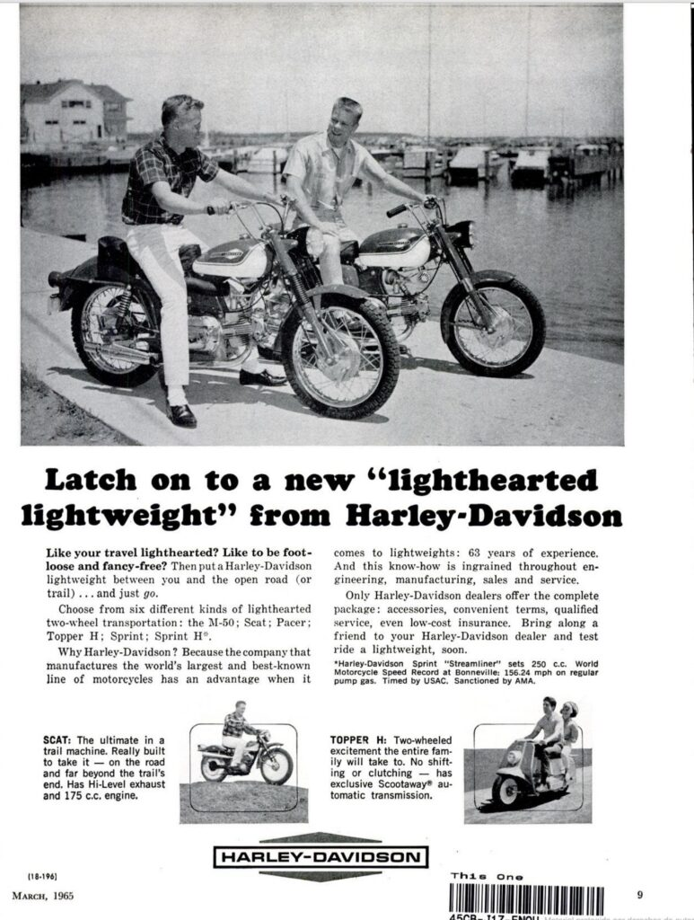 1965 - Harley-Davidson - Folletos - Sprint