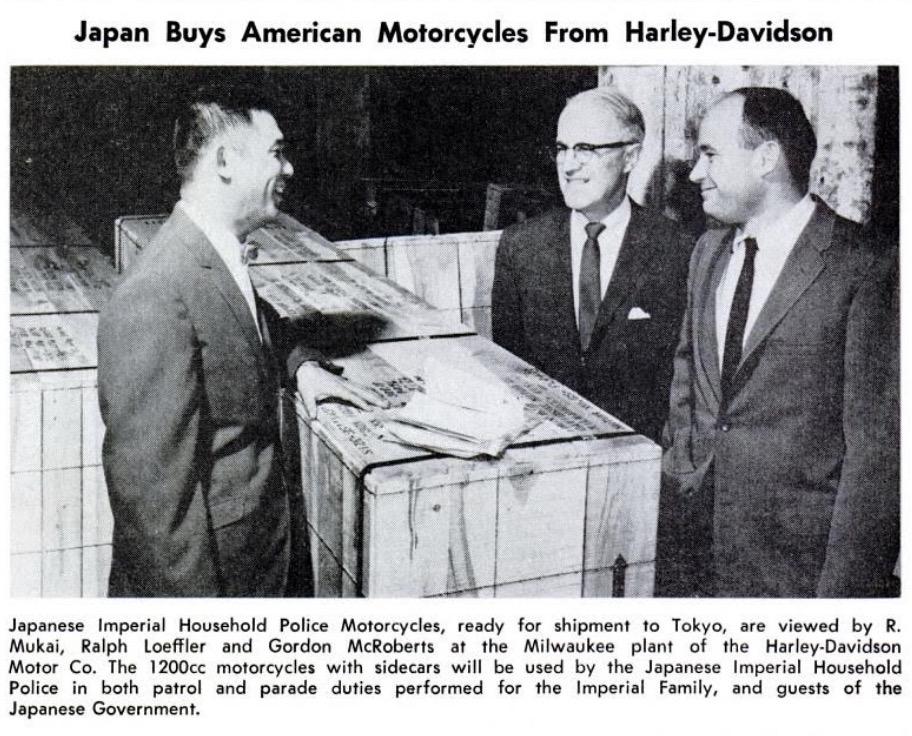 Japón compra motocicletas Harley-Davidson