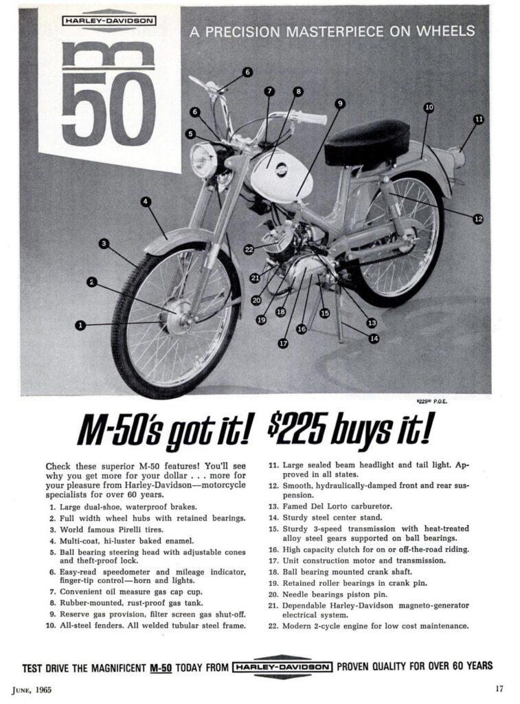1965 - Harley-Davidson - Folletos - M50