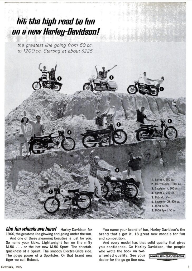 1965 - Harley-Davidson - Folletos