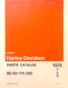 1974 - 1978 - SS/SX 175/250 Parts Catalog
