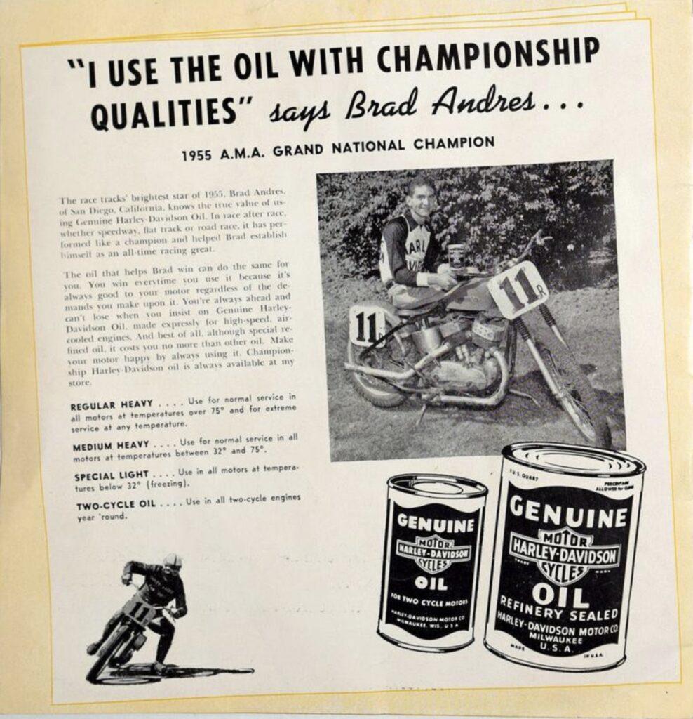 1956 - Harley-Davidson - oil
