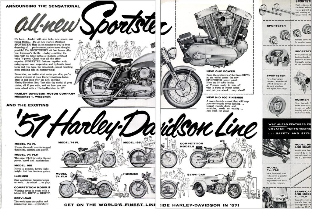 1957 - Harley-Davidson - folleto
