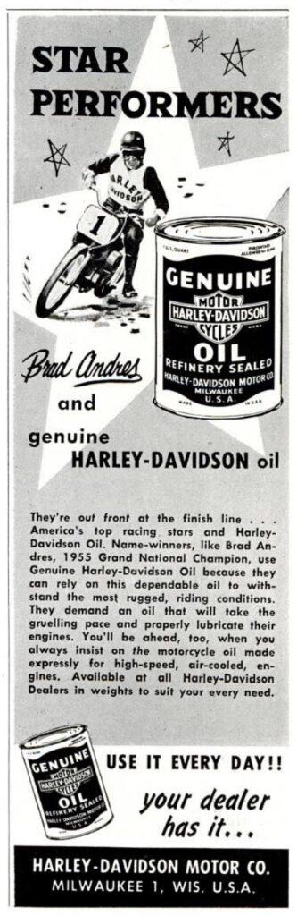 1957 - Harley-Davidson - oil