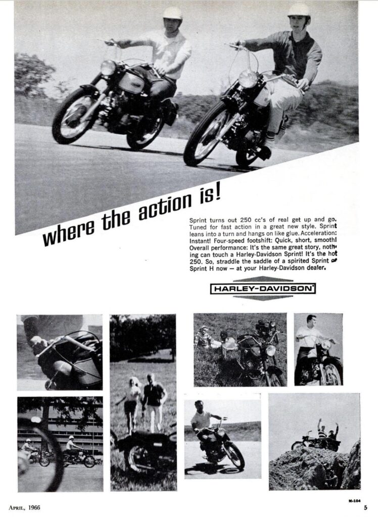 1966 - Harley-Davidson - Where the action is