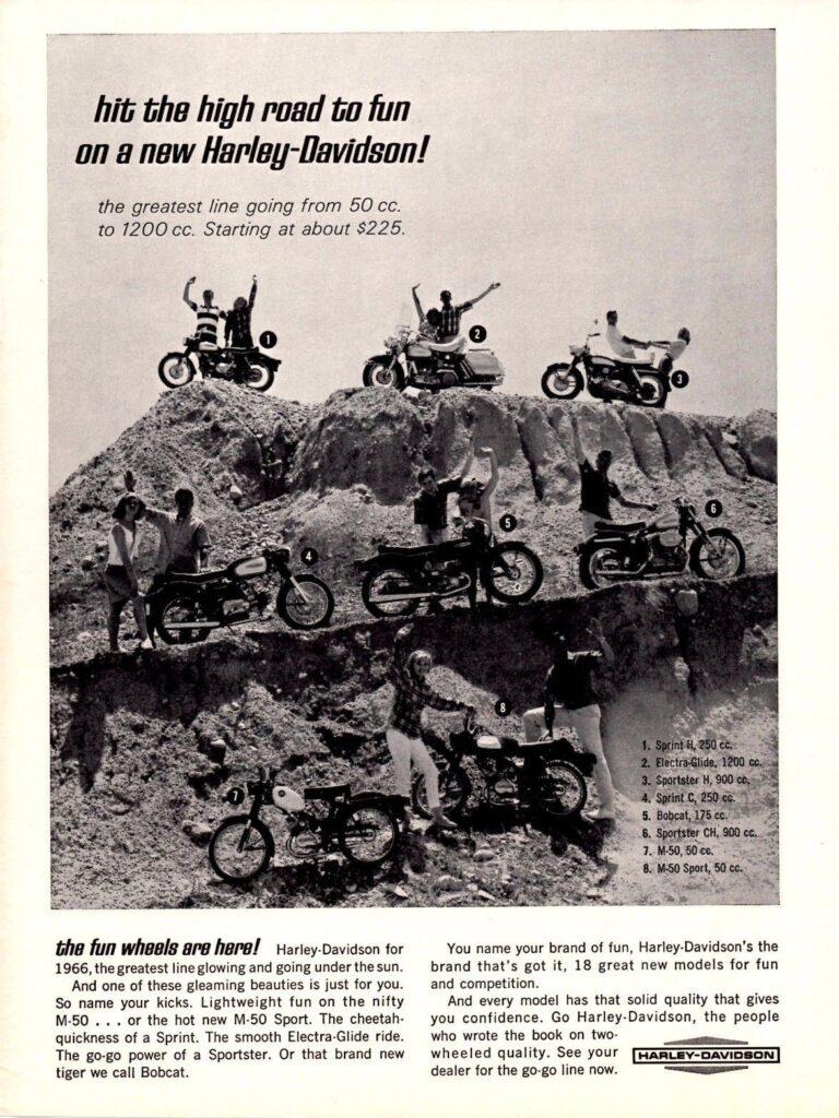 1966 - Harley-Davidson - Hit the high