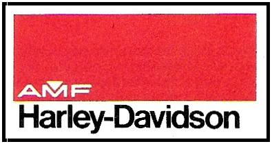 1968 - Logo AMF - Harley-Davidson