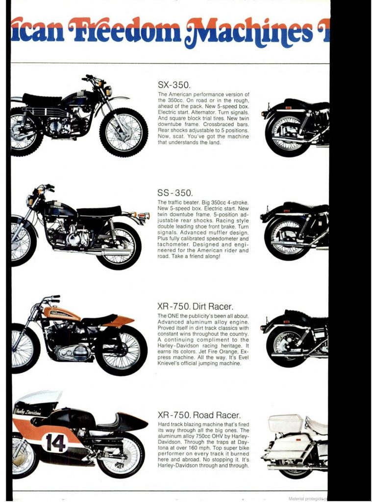 1973 - Harley-Davidson - Folletos