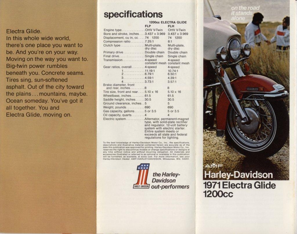 1971 - Harley-Davidson - Folletos